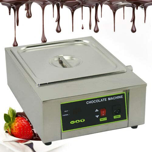 Commercial Chocolate Melting Pot Machine Chocolate Melter Pot for 8 kg of Chocolate Hot Chocolate Warmer Cheese Heating Machine 110V 1000W Electric Chocolate Heater Adjustable Temperature