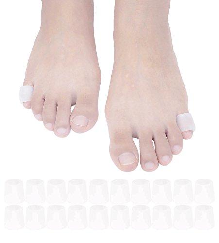 JKcare Pinky Toe Sleeves Gel Corn Cushion Pads 10 Pairs/20 Pack Toe...