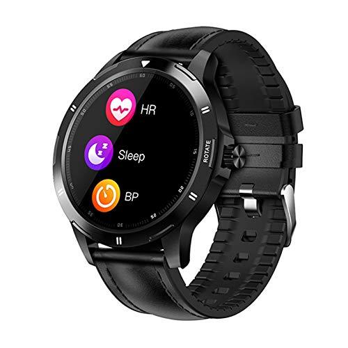 ZGNB Nuevo Reloj Inteligente de dial Multifuncional para Hombres K15 Rastreador de Fitness Monitor de Ritmo cardíaco Smart Relk Deportes Smartwatch para Android iOS Teléfono móvil,A