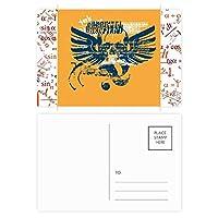 ブルーオレンジ頭翼グラフィティストリート 公式ポストカードセットサンクスカード郵送側20個