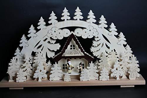 Verlichte kerstboog kerstman als geschenk pakken grootte = 60x33cm NIEUW Ertsgebergte lichtboog lichtboog