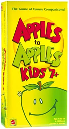 Mattel Apple To Apples Kids 7 Plus - The Game of Crazy Comparisons by