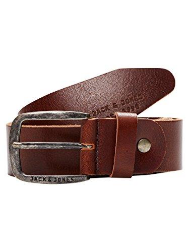 JACK & JONES JJIPAUL JJLEATHER BELT NOOS, Cinturón Hombre, Marrón (Black Coffee), 95 cm (Talla del fabricante: 95)