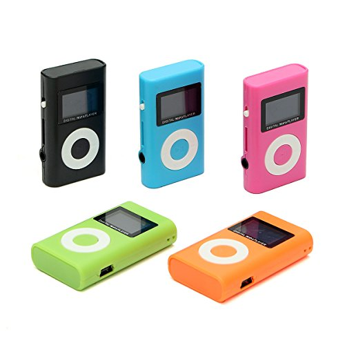 Hitommy Mini USB Mp3 Music Media Player LCD Screen Support 32Gb Micro Sd Tf Card Slot - Orange