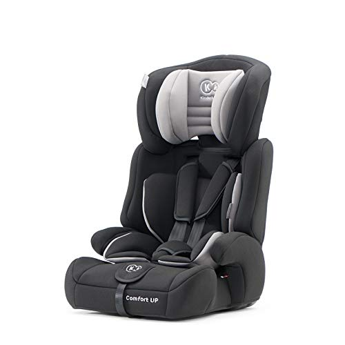 kk Kinderkraft Kinderautositz COMFORT UP, Autokindersitz, Autositz, Kindersitz, Gruppe 1/2/3 9-36kg, 5-Punkt-Sicherheitsgurt, Einstellbare Kopfstütze, ECE R44/04, Schwarz