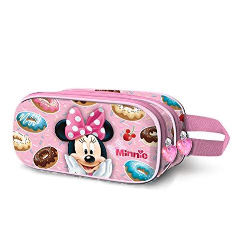 Minni Mouse Yummy-Astuccio Portatutto 3D Doppio