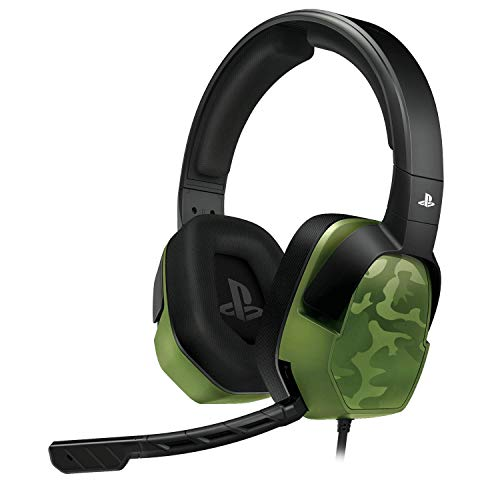 pdp audio headsets PDP Gaming LVL3 Headset With Noise Cancelling Microphone: Green Camo - PS5/PS4