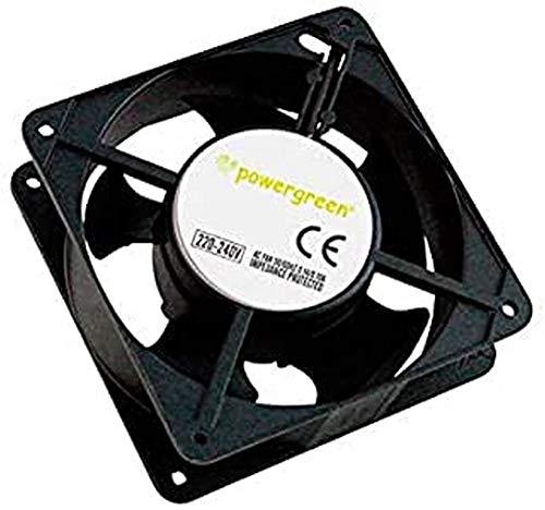 powergreen RAC-00002-ST - Ventilador para Armario Rack, 12 cm