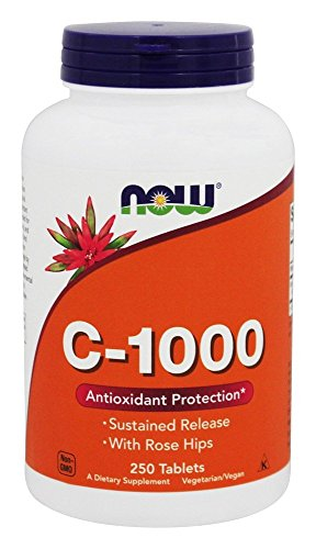 Now Foods - C-1000 W/ROSE HIPS - 250 tabs