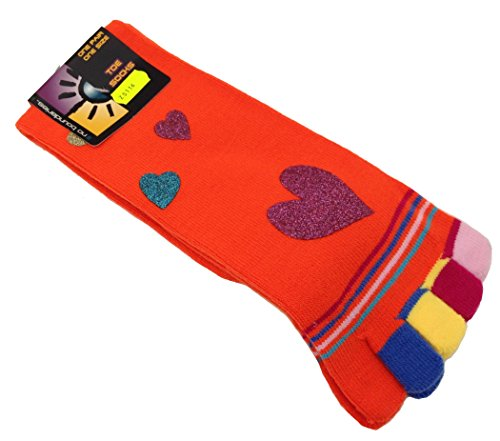 Pesail ZS116 Zehensocken Socken mit Zehen bunt V2