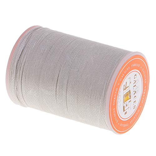 Kloware 0,45mm Sewing Thread Leather Sewing Waxed Thread Flat Sewing Thread for Shoes Luggage, Light Grey