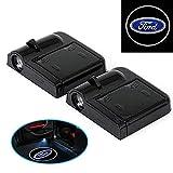 A64 2 Stück Wireless Auto Tür Licht LED Car Willkommen Projector Logo für Ford