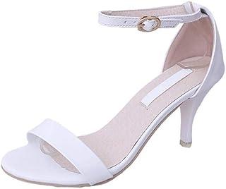 3ef117e441efbb ZHRUI Sandales pour Femmes Chaussures à Talons Hauts à Bout Ouvert  Escarpins Peu Profonds Plateforme antidérapante