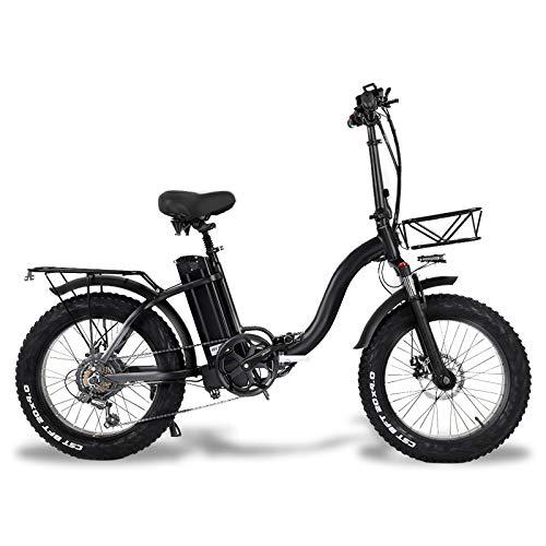 """martes Bici Elettrica Fat Tire 20 * 4""""con 48V 15Ah Batteria agli Ioni di Litio 500W Motor, City Mountain Bike Booster 100-120km"""