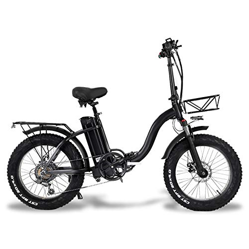 MARTES Electric Folding Bike Fat Tire 20 * 4' with 48V 15Ah Lithium-ion Battery 500W Motor, City Mountain Bicycle Booster 100-120KM