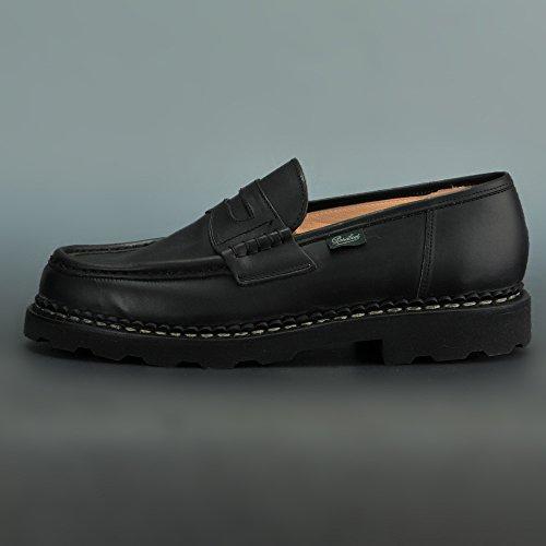 [パラブーツ]ローファーランスREIMSメンズ靴ブラックLISオイルドレザーラバーソール国内正規取扱店6サイズ(24.5cm相当)