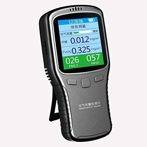 CHENG Detector De Calidad del Aire Interior Precisa De Pruebas De Formaldehído (HCHO) con Monitor PM2.5 / PM10 Prueba De Calidad del Aire Registrador De Datos para Detectar Interior Usos Inicio