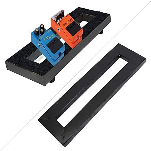 Pedalboard de efectos de guitarra pequeño con pedal Soporte de montaje de potencia de efecto de guitarra para accesorios de guitarra