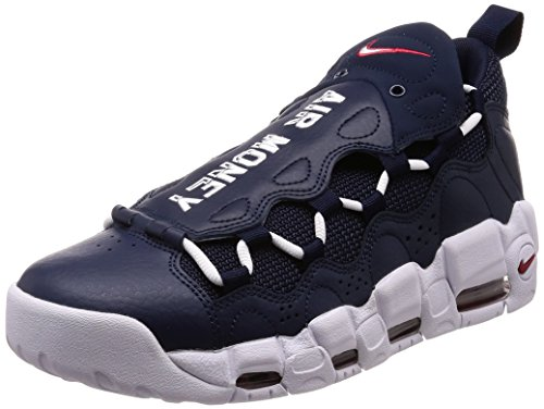 Nike Air More Money, Zapatillas de Deporte para Hombre, Multicolor (Obsidian/White/Gym Red 400), 47.5 EU