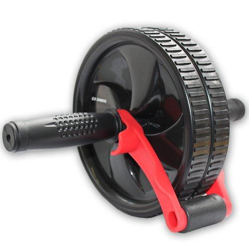 C.P. Sports Trainingshilfen Bauchroller mit Bremse, Schwarz/Rot, One size