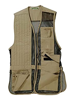 Bob-Allen 30246 240M Shooting Vest, Right Handed, Khaki, Large