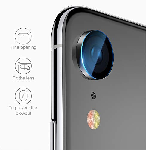 Preisvergleich Produktbild Genieforce® Premium Kamera Objektiv HD+ Panzerfolie Schutzfolie für iPhone XR - Kameralinse Panzerfolie - Tempered Glass Protector - 9H Ultra Hart - inkl. 3-in-1 Einbauset
