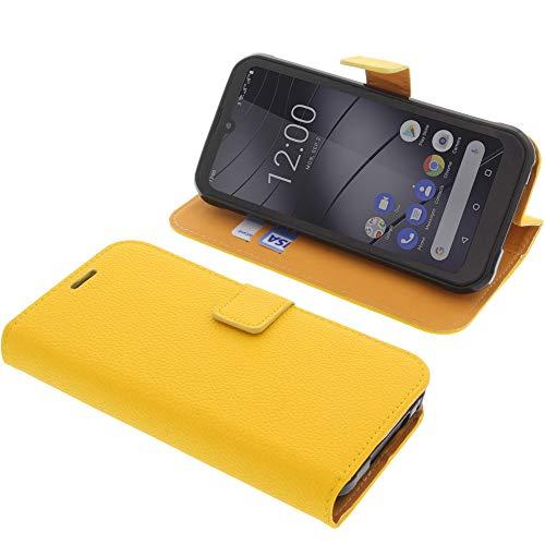 foto-kontor Tasche für Gigaset GX290 / GX290 Plus Book Style gelb Schutz Hülle Buch