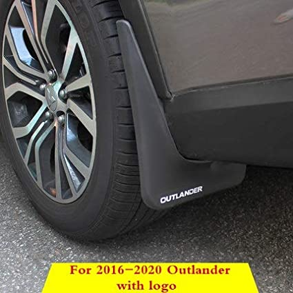 Color : 2016 2020 with Logo mlzaq for Mitsubishi Outlander 2013 2015 2016 2017 2018 Splash Guards Mud Flap Kotfl/ügel Fender Exterior Zubeh/ör Dekorative Reifen
