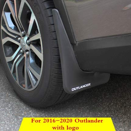NYSCJJJ for Mitsubishi Outlander 2013 2015 2016 2017 2018 Splash Guards Mud Flap Kotflügel Fender Exterior Zubehör Dekorative Reifen (Color : 2016 2020 with Logo)