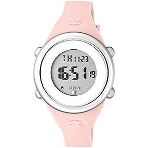 Reloj Tous Soft Digital de acero con correa de silicona rosa Ref:800350610