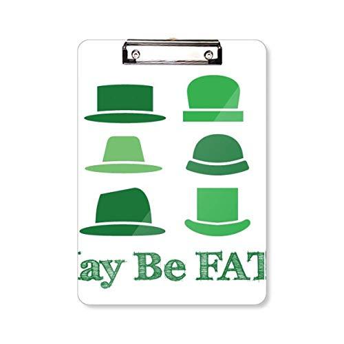 Groene Hoed Chinese Joke Fate Klembord Folder Schrijven Pad Backing Plate A4