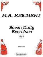ライヒェルト: 7つの毎日の練習 Op.5/カール・フィッシャー社/フルート教本・練習曲
