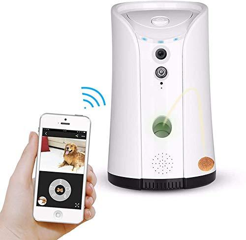 Bewakingscamera, voederdispenser voor hondencamera, afstandsbediening voor huisdieren, wifi, met 2-weg audio en nachtzicht