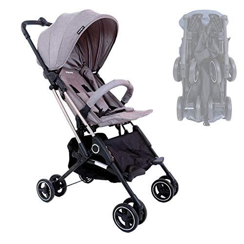 FUXTEC faltbarer Kinder Buggy FX-HD788 Grau Flugzeug Handgepäck geeignet, mit Schwenkrädern, Liegefunktion, Sicherheitsbügel + 5-Punkte-Sicherheitsgurt und Feststellbremse - Das Original mit Qualität!