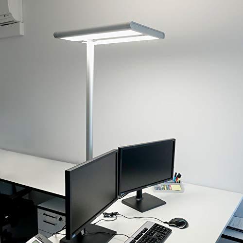 Lampenwelt LED Stehlampe (A+, inkl. Leuchtmittel) mit Bewegungsmelder, Tageslichtsensor | Büro-Stehleuchte | Standleuchte | Bürolampe für Arbeitszimmer, Büro