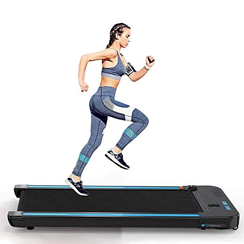 COKECO Profi Laufband Tragfähiger 150 Kg Bluetooth-Lautsprecher Mit Einstellbarer Geschwindigkeit 1-6 Km/H Dual-Screen-LED-Anzeige 3,0 PS Leiser Motor, Geeignet Für Zuhause/Büro