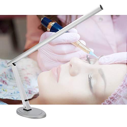Lámpara de escritorio LED, lámpara de escritorio de arte de uñas Lámpara de mesa de protección de ojos de brazo largo plegable de luz natural para herramienta de manicura Enchufe de la UE 220V