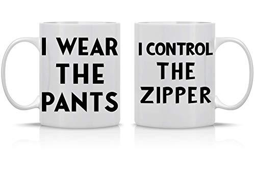 Juego de taza de cerámica con cremallera I Wear The Pants I...