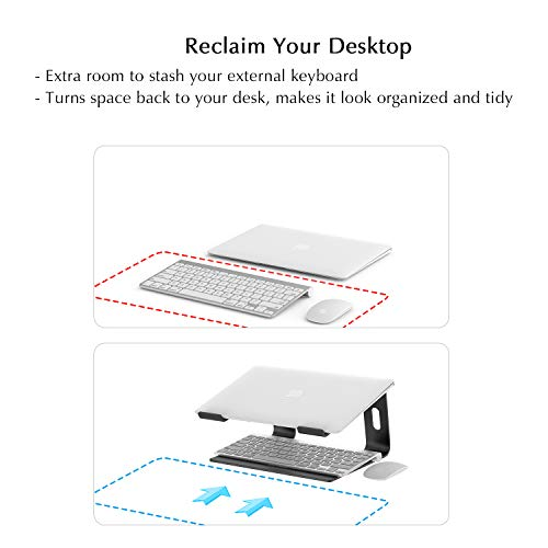 BoYata Laptopständer: Demontierbar mit Belüftung, Tragbarer Notebook Ständer Kompatibel mit Laptop (10 inch~15.9 inch) MacBook Pro/Air, HP, Dell, Lenovo, Samsung, Acer, Huawei MateBook (Schwarz)