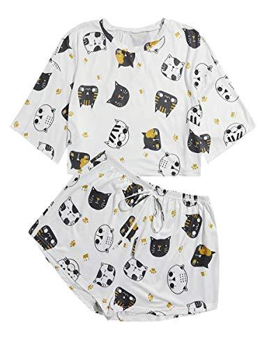 Pijama Gato Mujer  marca ROMWE