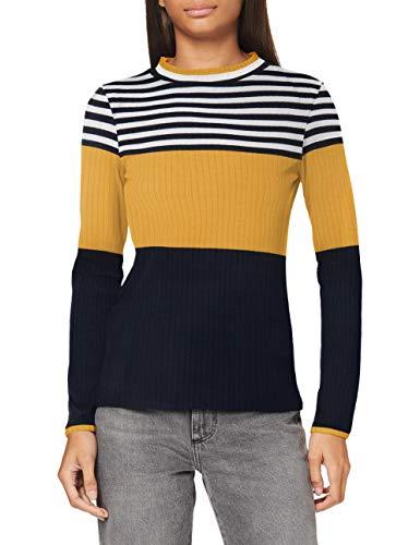 edc by Esprit 080CC1K314 T-Shirt, 720/ottone, Giallo, XXS Donna