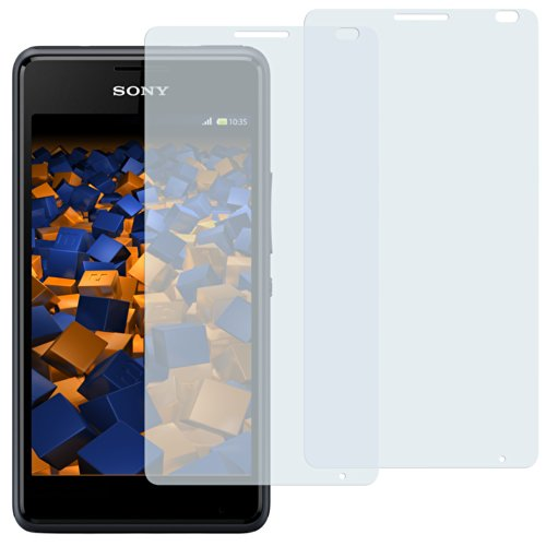 mumbi Schutzfolie kompatibel mit Sony Xperia E1 Folie klar, Bildschirmschutzfolie (2X)