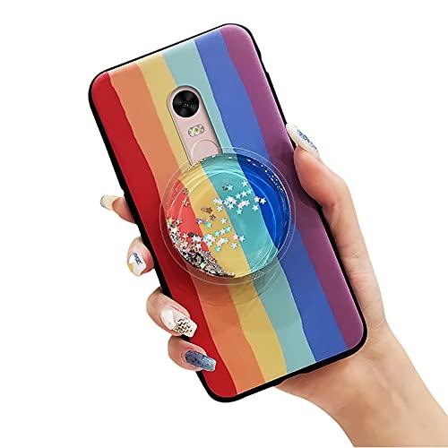 Funda Protectora para teléfono móvil Lulumi para Xiaomi Redmi Note4/Note4X, Estrellas Flexibles Diseño de Moda Juguete de Goma Elegante Diseñador Titular Líquido Durable Drift Sand Sparkle, Ra