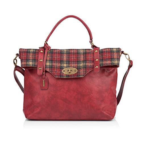 Remonte Damen Handtaschen Q0475, Frauen Umhängetaschen, schultertasche accessoire modisch jung qualitativ cool,wine/wine,One size/Einheitsgröße