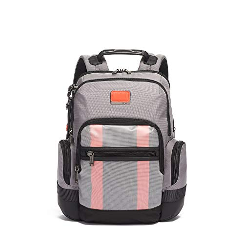 TUMI - Alpha Bravo Nathan Laptop Backpack - 15 Inch Computer Bag for Men and Women - Grey/Bright Red