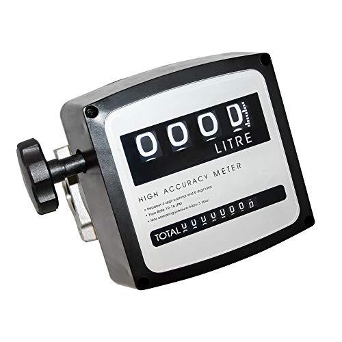 "Diesel Heizöl Zähler Doppelzahlwerk 3 bar 19-120l/min Anschlüsse 25,4mm (1\"") Heizölpumpe"