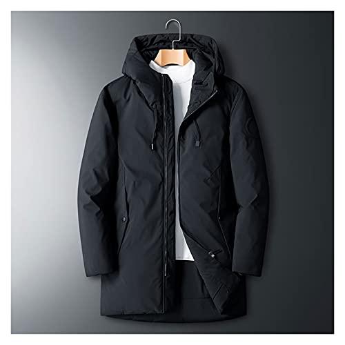 JJSPP Chaqueta con capucha con capucha para hombres Ropa clásica gruesa cálida cómoda cómoda suelta 90% abajo abrigo (Color : B, Size : XXXXXX-Large)