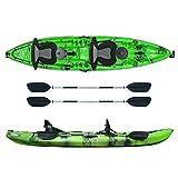ATLANTIS Kayak-Canoa 2 posti Enterprise Verde cm 370-2 gavoni - 2 seggiolino - 2 pagaie - 2 portacanne