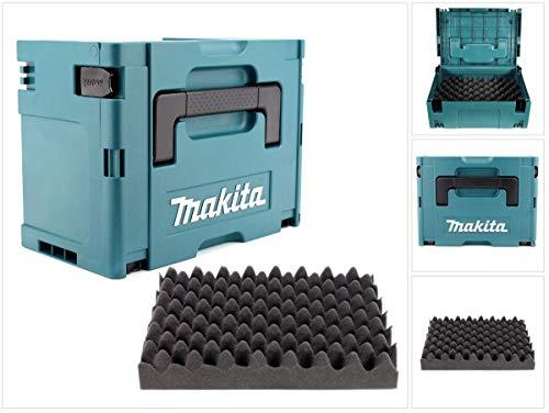 Preisvergleich Produktbild Makita MAKPAC 3 Systemkoffer - mit Universaleinlage für Makita 18 V Akku Geräte Schrauber Sägen Schleifer
