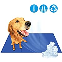 犬用のマットを冷却、洗えるゲル犬はペットの犬猫の夏の熱い日の大90x50cm用冷却パッド自己冷却パッドをマット